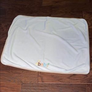 Just One Year Carter's Baby Blanket White Soft